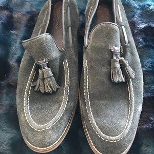Donald Pliner Olive Green Suede Mens Loafers